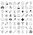 set of 64 medical icons thin line style vector image vector image