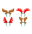 set of antlers of a deer isolated vector image vector image