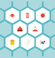 set of handcraft icons flat style symbols with pin vector image