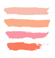 set of pastel powder watercolor brush stroke vector image vector image