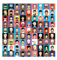 Set of people icons in flat style with faces 02 b vector image vector image