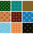 set of various seamless geometric pattern vector image vector image