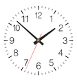 Simple classic clock placed on white vector image vector image