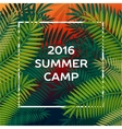 Summer themed camp and summer vacation poster vector image vector image