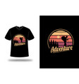 t-shirt adventure color yellow and orange vector image vector image