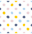 tile pattern with pastel hand drawn polka dots vector image