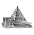 tomb at abydos structural vintage engraving vector image vector image