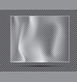 transparent light polyethylene banner vector image vector image