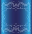 Vintage Royal Background Dark Blue Floral Luxury O vector image vector image