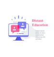 webinar concept online course distant education vector image vector image