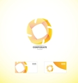 Yellow corporate abstract logo vector image vector image