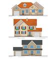 three suburban houses vector image