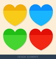 Colored stickers paper for notes vector image