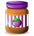 A jar of eggplant jam vector image vector image