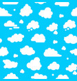 abstract clouds signs seamless pattern background vector image vector image