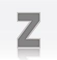 Alphabet Z vector image vector image