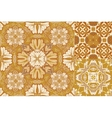 Art vintage set of damask pattern vector image
