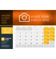 august 2019 desk calendar for 2019 year design vector image vector image