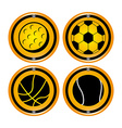 balls sport vector image vector image