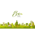 banner or strip paper with vector image vector image