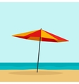 Beach umbrella isolated vector image vector image