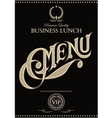 black template for cover menu vector image
