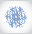 blue crystal snowflake logo winter gradient icon vector image vector image