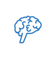 brain related glyph icon vector image vector image