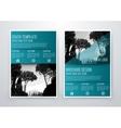 brochure design template flyer vector image vector image