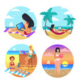 business summer women set vector image vector image