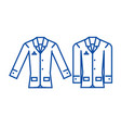 casual jacket line icon concept casual jacket vector image vector image