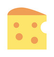 cheese piece icon image vector image vector image