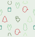 christmas element icons pattern vector image vector image