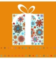 Christmas gift boxes made from snowflakes EPS 8 vector image