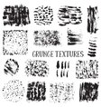 collection black ink abstract grunge vector image