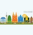 cologne germany city skyline with color buildings vector image vector image