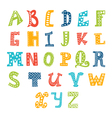 Cute alphabet isolated on white background Letters