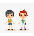 Cute Cartoon kids isolated Boy vector image vector image