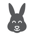easter bunny glyph icon animal and easter easter vector image vector image