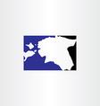 estonia logo map icon vector image vector image