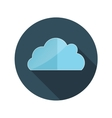 Flat Design Concept Cloud With Long Shadow vector image vector image