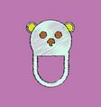 flat shading style icon teddy bear bib vector image vector image