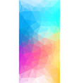 flat vertical color geometric triangle background vector image vector image
