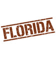 florida brown square stamp vector image vector image