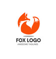 fox circle symbol vector image