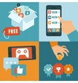 freemium business model vector image vector image