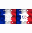french abstract map set with flag and ball vector image