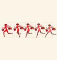 girls run on sale set vector image vector image