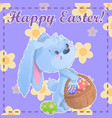 greeting post card printable template happy easter vector image vector image