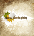 Grunge Happy Thanksgiving vector image vector image